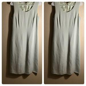 Armani seafoam green silk blend dress